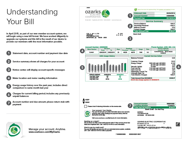 Click to download a PDF containing information about your monthly bill