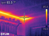 Infrared technology allows our energy experts to find energy problem areas invisible to the naked eye