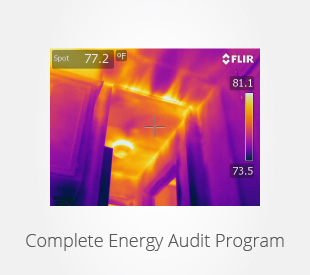 Link to more information about our complete home energy audit program