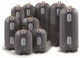 Electric water heaters come in various sizes