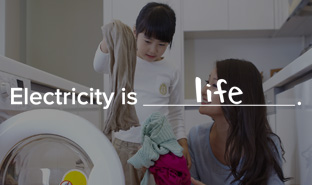 "Link to ""Electricity is life"" web page"